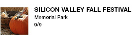 Silicon Valley Fall Festival Memorial Park 9/9 link