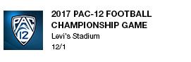 2017 PAC-12 Football Championship Game Levi's Stadium  12/1 link