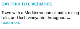 Day Trip to Livermore  Town with a Mediterranean climate, rolling hills, and lush vineyards throughout... read more link