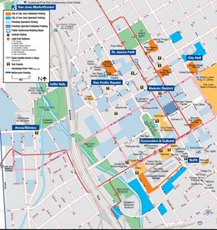 Little Saigon California Map.Parking In San Jose Parking Garages And Lots Visit San Jose