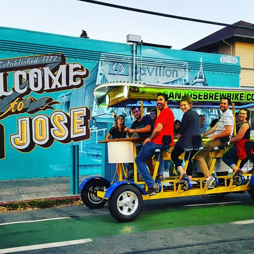 Hop on the San Jose Brew Bike and pedal your way through Downtown San Jose.