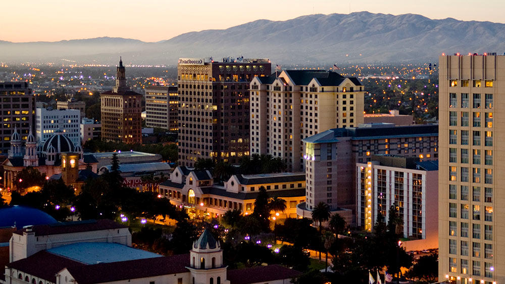San Jose at twilight