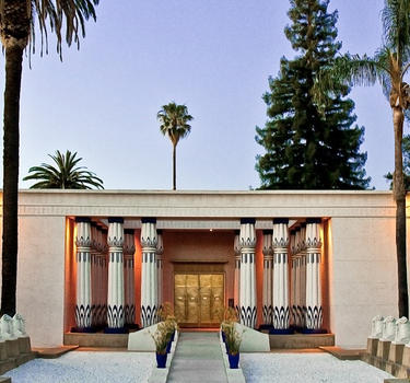 The front entrance of the Rosicrucian Egyptian Museum