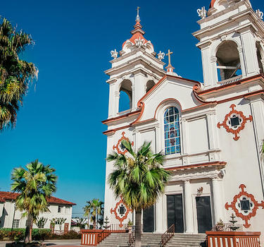 Exterior image of the Five Wounds Portuguese National Parish in Little Portugal