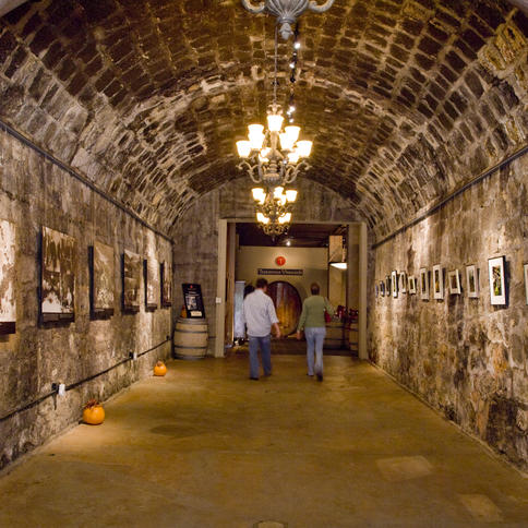 Testarossa Winery wine cave