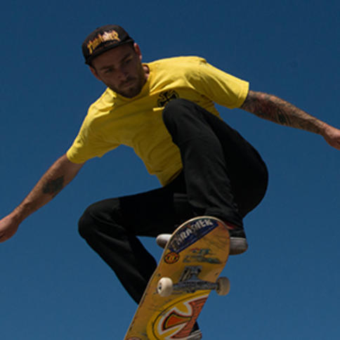 Skateboarder getting some air