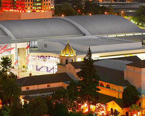 Aerial view of Downtown San Jose and the San Jose McEnery Convention Center