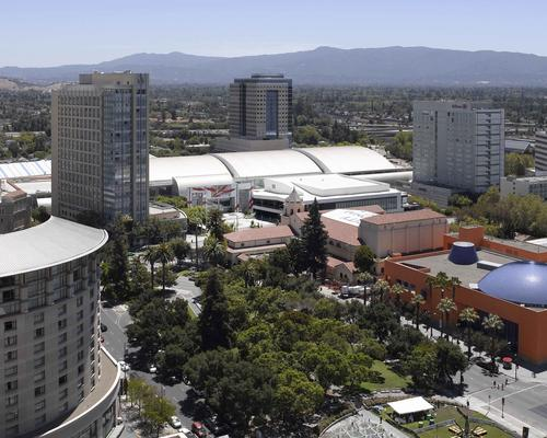 San Jose McEnery Convention Center and surrounding buildings