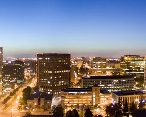 San Jose, California at night