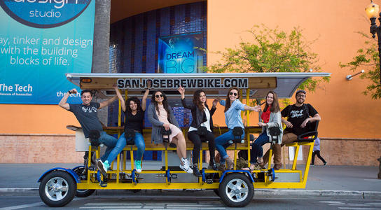 San Jose Brew Bike group