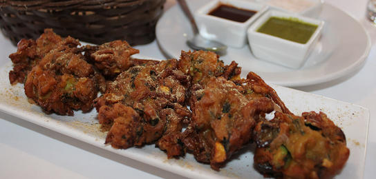 Pakoras from the Michelin recommended Swaad Indian Cuisine