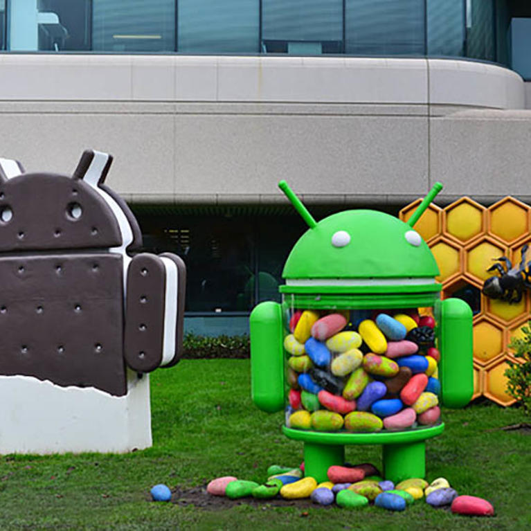Captivating At The Google Campus, Guests Can Visit Googleu0027s Sculpture Garden, Which  Features A New Colorful Candy Android Sculpture Each Time An Operating  System (O.S.) ...