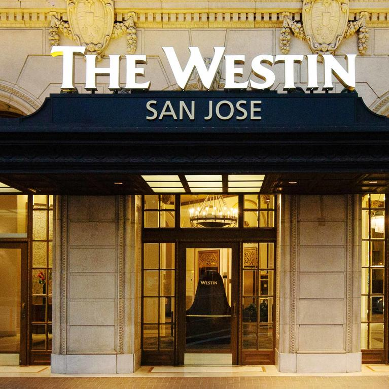 Entrance of Westin San Jose