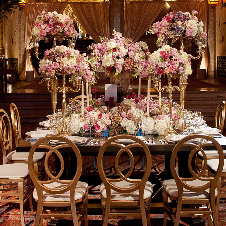 California Theatre wedding set in lobby