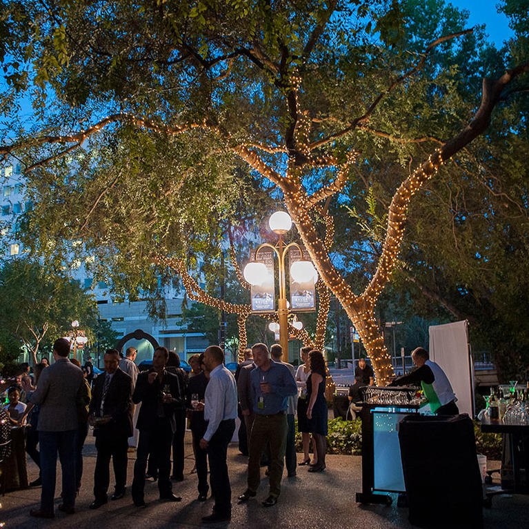 Center for the Performing Arts outdoor patio reception
