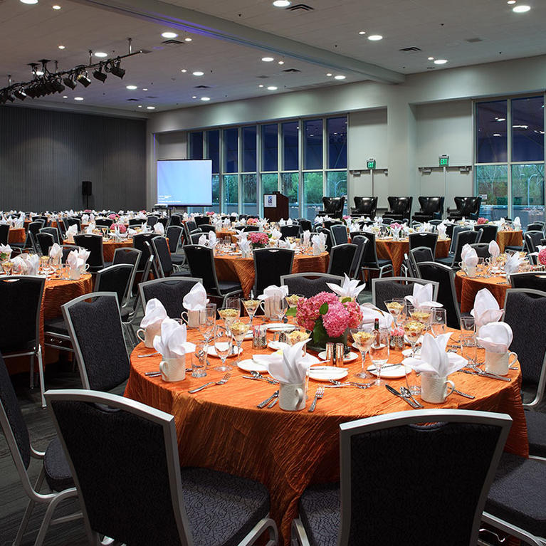 San Jose McEnery Convention Center Room 230 Banquet Set