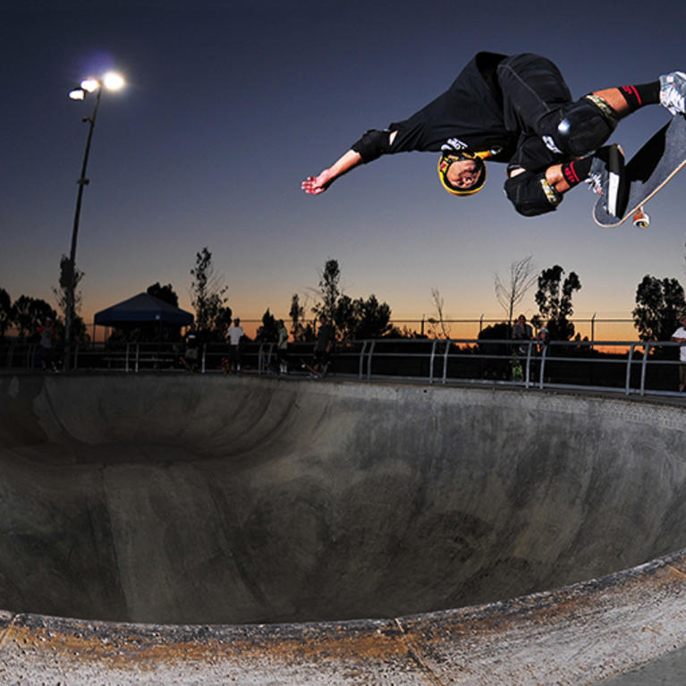 Skater night skateboarding at Lake Cunningham Skate Park