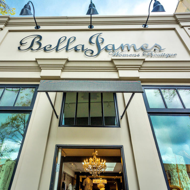 BellaJames Women's Boutique storefront in Downtown Willow Glen