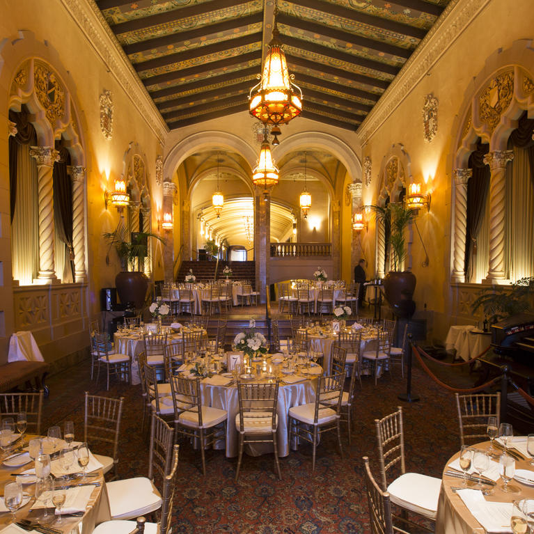 California Theatre Lobby set for banquet