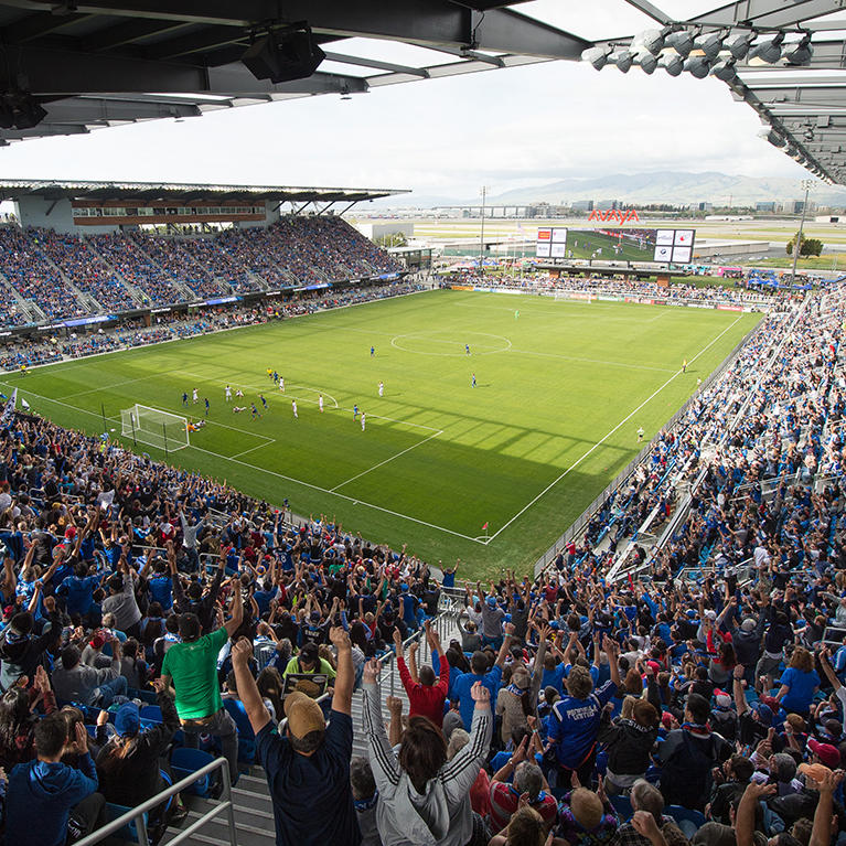Avaya Stadium with photo credit to John Todd