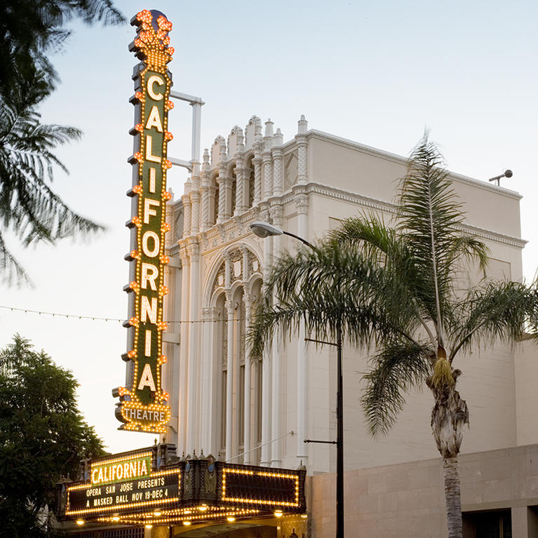 The historic California Theatre in San Jose's SoFA District