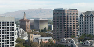 View of San Jose skyline in the daytime